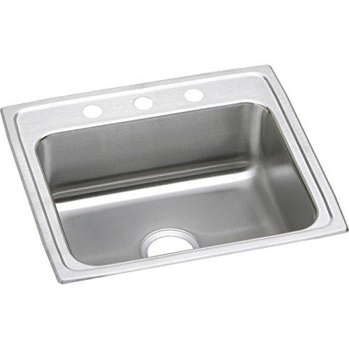 Elkay Lustertone LR22192 Single Bowl Top Mount Stainless Steel Sink ()