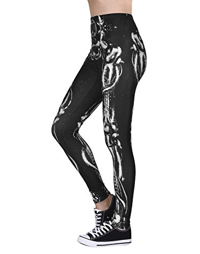 Women's Leggings Graphic Print Tights Fun Digital Design Holiday Elastic Pants -