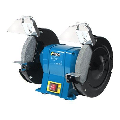 680 Watt Schleifbock 9,5kg Doppelschleifbock Schleifmaschine Doppel Schleifer, 2950U/min, Gehäuse komplett aus Metall, Steckdosenbetrieb