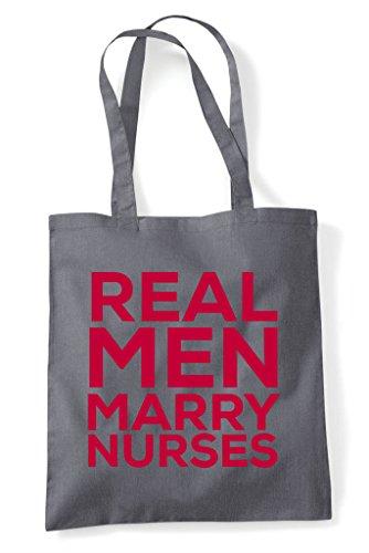 Dark Nurses Tote Marry Grey Man Shopper Bag Real xwgAY4y