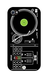 iZERCASE Turntable rubber iphone 4 case - Fits iphone 4 & iphone 4s
