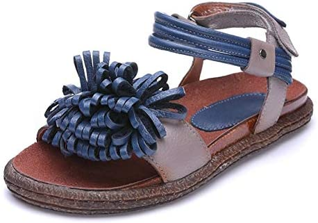New Sandals for Women Flat Walking Shoes Floral Shape