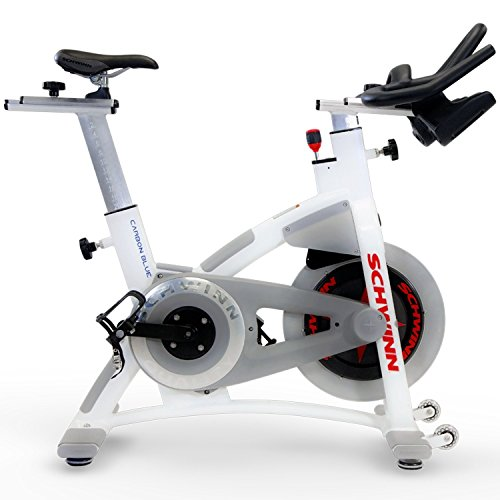 Schwinn AC Performance Plus Indoor Bike with Carbon Blue Belt Drive and Morse Taper - White Stairmaster