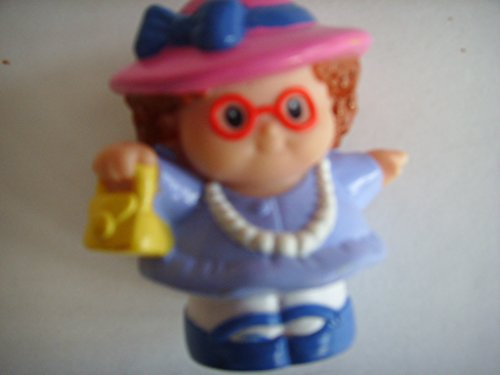 Fisher Price Little People Dollhouse Replacement Figure Tea Party Easter Collectible ; Maggie in Pink Hat, Yellow Purse & (Fisher Price Little People Dollhouse)