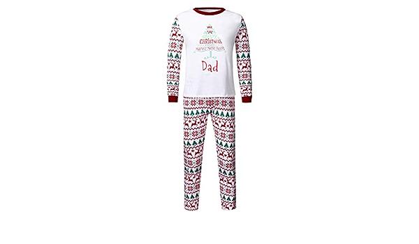 Wascoo Family Pijama a Juego – Feliz Navidad Reno a Juego ...