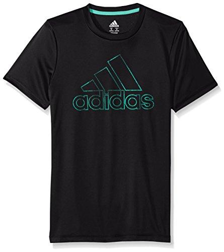 adidas Big Boys' Short Sleeve Logo Tee Shirt, Multi, Medium