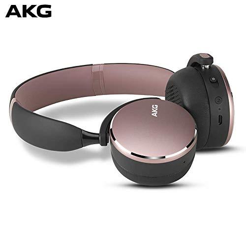 AKG Y500 On-Ear Foldable Wireless Bluetooth Headphones - Pink (US Version) ()
