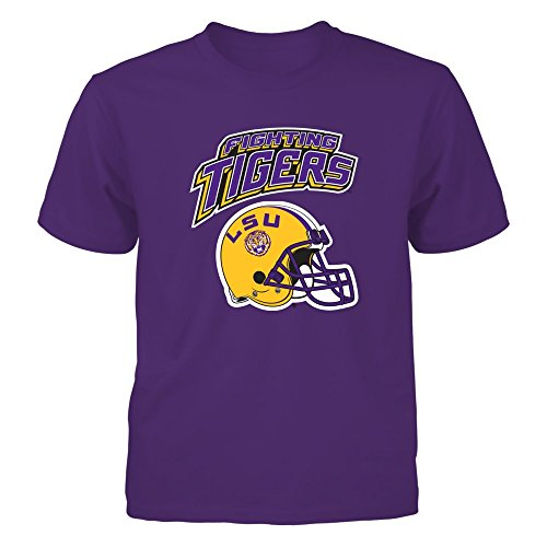 - FanPrint LSU Fighting Tigers Football - Officially Licensed LSU Football AP. - Gildan Youth T-Shirt - Officially Licensed Fashion Sports Apparel