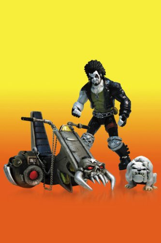 DC Direct Deluxe Action Figure Lobo Dawg with Cycle