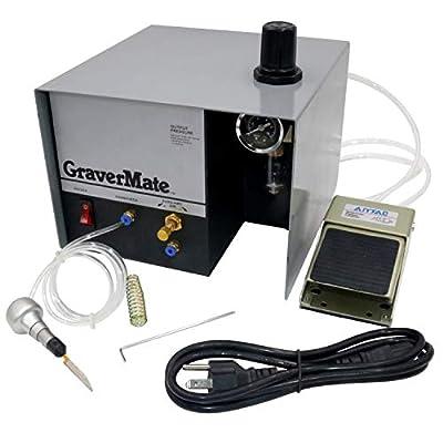 Pneumatic Impact Engraving Machine GraverMate Jewelry Engraver Single Ended 110/220v