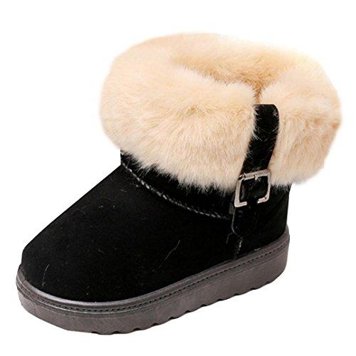 Clode® Kinder Herbst Winter Warme Mode Kinder Martin Mädchen Jungen Casual Schneeschuhe Schwarz