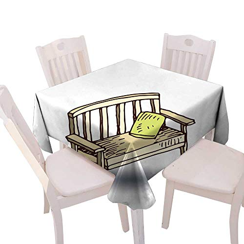 longbuyer Tassel Tablecloth Garden Chair Isolated Vector Illustration Square Tablecloth W 60