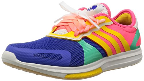 adidas Stellasport Yvori Running Trainers Sneakers (UK 4 US 5.5 EU 36 2/3, Yellow red Blue AF5918) (Adidas Samba Trainer)