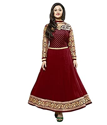4e87b6f034 Vipul Branded Georgette Red Salwar Suit Kameez Dress Material ( Holi Offers  & Discount Best Gift For Mom, Wife, Sister & Happy New Year Sale ):  Amazon.in: ...