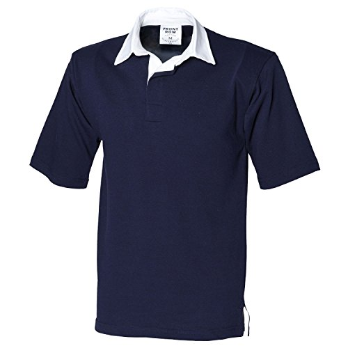 Front Row Kurzarm Rugby-Shirt FR3 Marineblau Medium