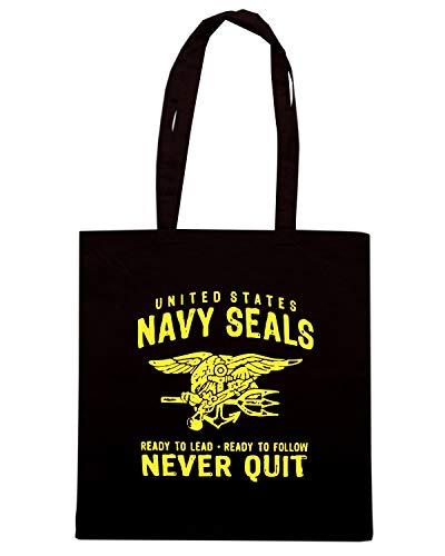 Shirt TM0432 NEVER NAVY QUIT SEALS Nera Shopper Borsa Speed dwI0xCd