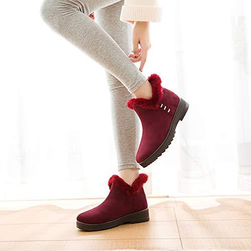 PINGXIANNV Frauen Frauen Frauen Stiefeletten Winter Warme Schnee Stiefel Schuhe Für Frauen f1fbd0