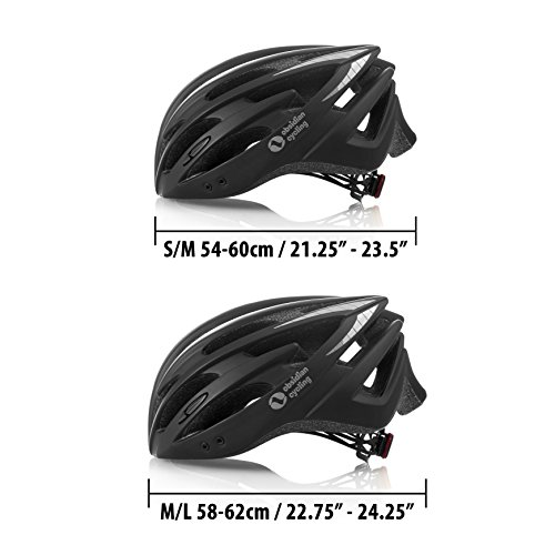 Premium Quality Airflow Bike Helmet with detachable Visor, Padded & Adjustable CPSC Safety Certified for Adult Men & Women and Teen Boys & Girls Comfortable , Lightweight , Breathable