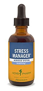 Herb Pharm Stress Manager Herbal Formula with Rhodiola and Holy Basil Extracts - 2 Ounce