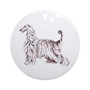 Central Orina Afghan Hound Elegance Ceramic Ornament 3 inch Round Holiday Christmas Ornament 48
