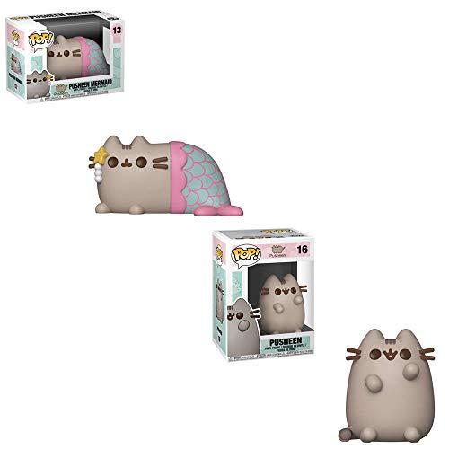Funko POP! Pusheen: Pusheen Mermaid and Pusheen Toy Action Figures - 2 POP Bundle -