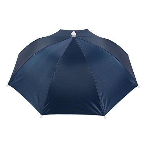 Amazon.com : eDealMax Pesca Negro Cinta elástica de Manos libres poliéster Shell Paraguas Sombrero : Sports & Outdoors