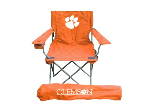 Tigers Cushion Clemson Stadium - Rivalry NCAA Clemson Tigers Folding Chair With Bag