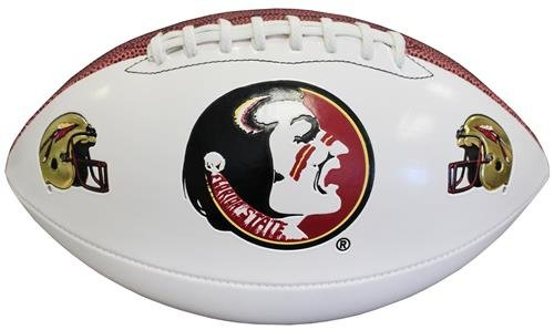 Florida State Seminoles NCAA Baden Official Size White Panel Football by Baden