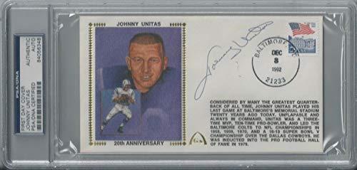 Johnny Unitas PSA/DNA Certified Autographed Signed Autograph First Day Cover Autographed Signed Autograph