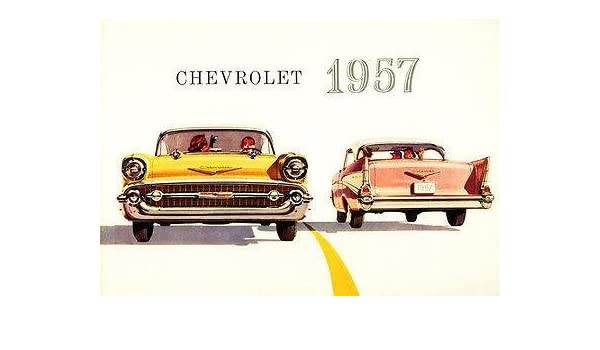 Amazon 1957 Chevrolet Bel Air Promotional Advertising Poster
