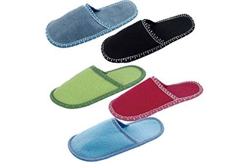 Home Family Guest Indoor Felt Slippers 6-delige Set Multicolor