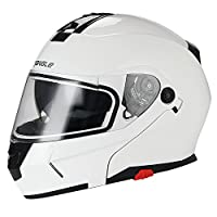 Traiangle Motorcycle Helmets Modular Dual Visor Flip Up [ DOT ] Glossy White from Jinhua Bokai Motorcycle Fitting co.,LTD