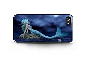 Custom iPhone Case -The Mermaid in the Light of The Moon For Apple iPhone 4/4s Hard Back Cover Case