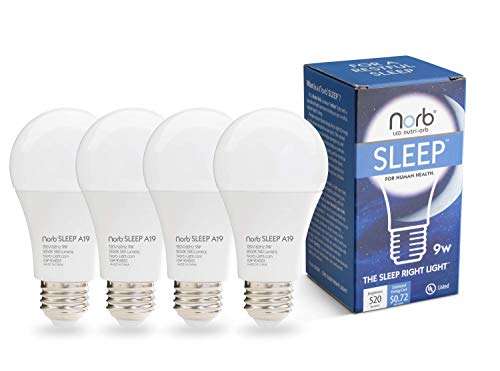 Nighttime Bulb; Natural Sleep Aid, Adult & Baby Light, Supports Healthy Sleep, Melatonin Production, Circadian Rhythms, Fights Insomnia. Low Blue LED Light Bulb with Natural Color. Evening/Bedtime Use