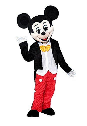 Sinoocean Mickey Mouse Adult Mascot Costume Fancy Dress Cosplay Outfit