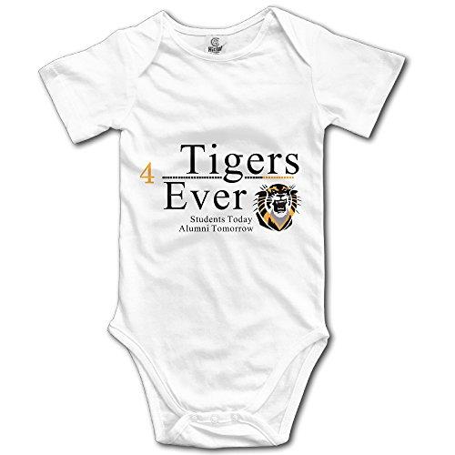Fort Hays State Tigers Logo Baby Girls/Boys Short Sleeve Bodysuit (Hays State Tigers)