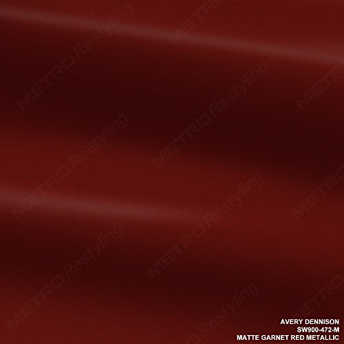 Avery SW900-472-M MATTE GARNET RED METALLIC 5ft x 75ft (375 Sq/ft) Supreme Vinyl Car Wrap Film by Avery Dennison