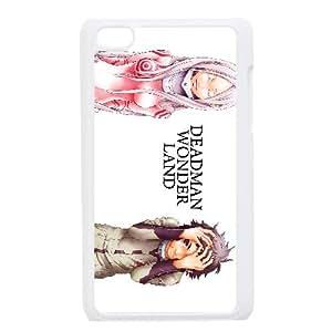 4 Caso Deadman Wonderland iPod Touch Case funda del teléfono celular blanco funda cubierta EEECBCAAB04200
