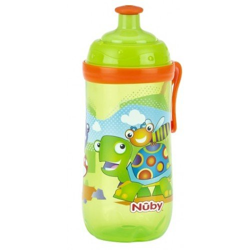 Nuby Sipeez Trinkbecher fü r Kleinkinder, 360 ml, ab 18 Monaten, BPA-frei, Design: grü ne Schildkrö te