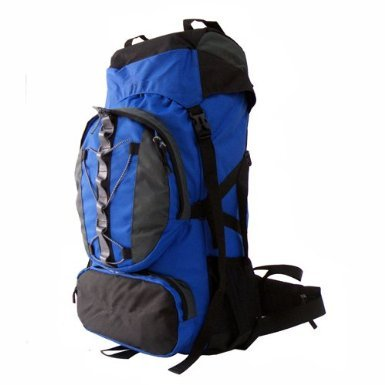 Ul 60+10l Internal Frame Camping Hiking Backpack for Camping Blue, Outdoor Stuffs