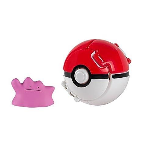 "Rotom und Pikachu Pokemon von Tomy Throw /""n/"" Pop Pokeball Wuffels"