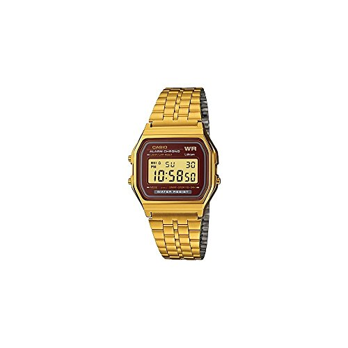 (Casio Vintage Collection Digital Unisex Bracelet Watch (Gold))