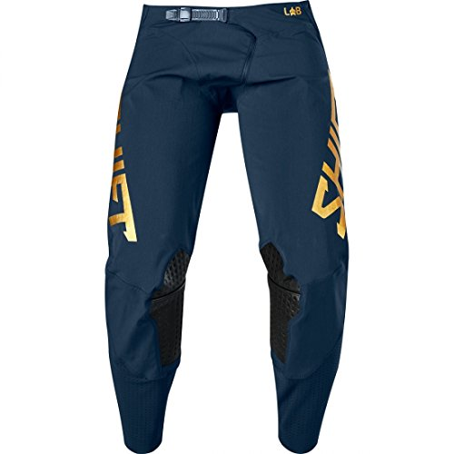 (Shift Racing 3lue Label Men's Off-Road Motorcycle Pants - 30/Navy/Gold)