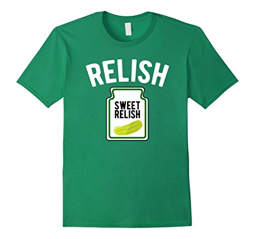 Men's Sweet Relish Funny Condiment Halloween Costume T-Shirt Small Kelly Green (Ketchup And Mustard Costume)