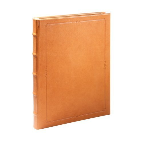 9 Inch Large Hardcover Writing Journal, Genuine Calfskin Leather, Lined Pages, 7 x 9-1/4, British Tan by Graphic Image by Graphic Image