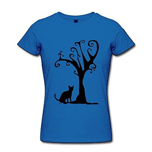 JSFAD Women's Cat Tree T-shirt XL]()