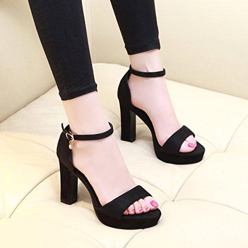 sandali sandali con e tacco RUGAI impermeabili UE scarpe Tavolo black impermeabile con alto pwHFRa
