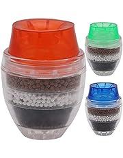Filtro de Agua del Grifo con Sistema de filtración de Agua Purificador de Agua de Grifo de Larga duración para la Cocina Sin BPA [3 PCS] Mini grifos de Filtro, Color Aleatorio