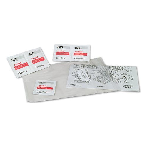 Xerox Cleaning Kit, Includes 5 Alcohol Wipes Instructions (109R00642)