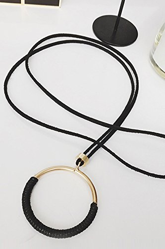 Generic Korean autumn and winter long section of a simple pendant necklace pendant Europe and America bohemian retro sweater chain Harajuku style ornaments